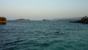 the island far on the left is Crystal Cove Island