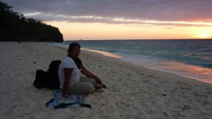 Sunset on Puka Beach
