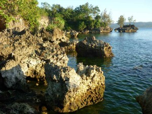 rocky coast 'behind' Asya Hotel