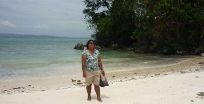 Small Island at Bulabog Beach and Carabao Island visible on horizon