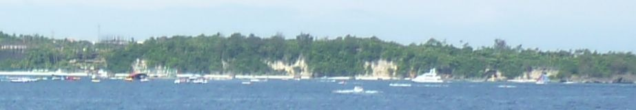 Asya Hotel beach area visible from RoRo vessel