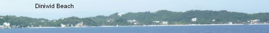Diniwid Beach and the northern part of White Beach visible from RoRo