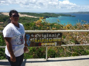 Mt. Luho : here you can see  closer Lapuz-Lapuz Beach (private one) and behind it Ilig-Iligan Beach (public one)