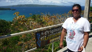 Mt. Luho : farther you can see big Carabao Island and the part of Tablas Island farther
