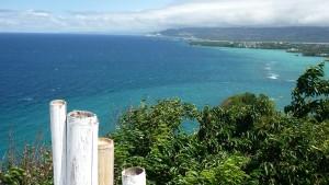 Mt. Luho : looking at Panay Island -we can see Crystal Cove Island, Magic Island & Crocodile Island