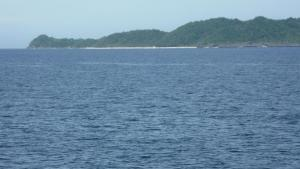 Puka Shell Beach (visible as whole from RORO ferry)