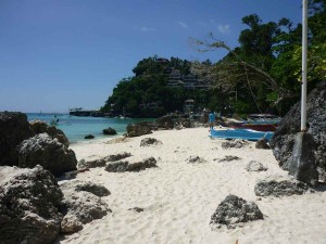 Diniwid Beach - we can see Spider House which closes the beach