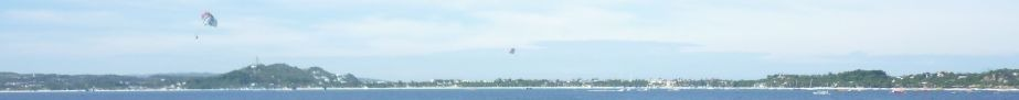 White Beach visible from RoRo ship